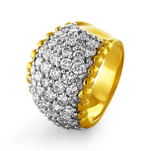 2.79ct. diamond ring set with diamond in cocktail ring