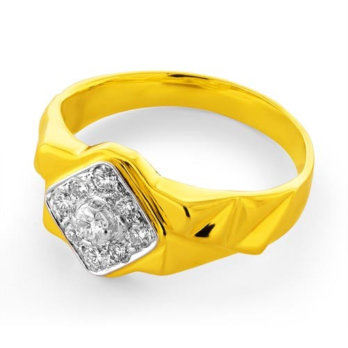 0.43ct. diamond ring set with diamond in mens ring