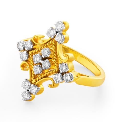 0.72ct. diamond ring set with diamond in casual ring