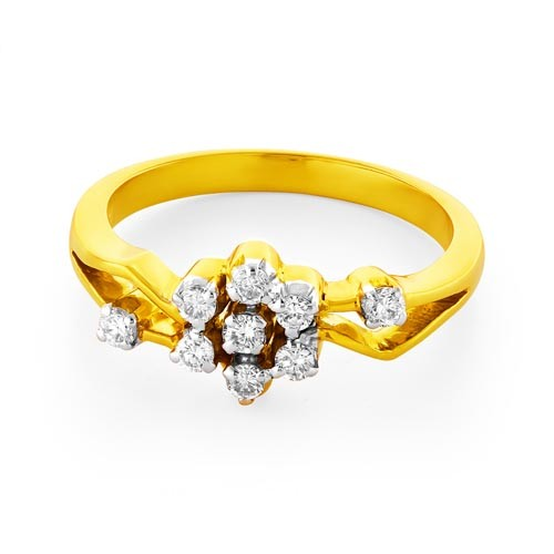 0.27ct. diamond ring set with diamond in casual ring