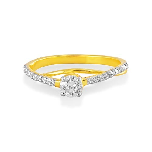 0.52ct. diamond ring set with diamond in engagement ring