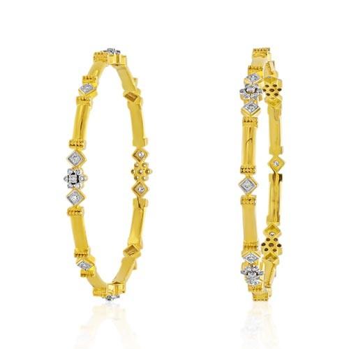 1.8ct. diamond bangles set with diamond in wedding bangles