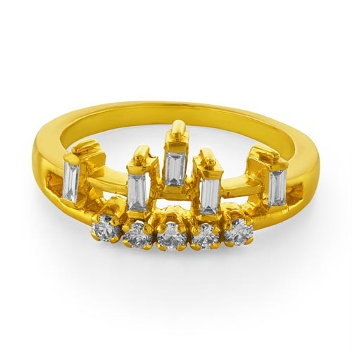 0.25ct. diamond ring set with diamond in casual ring