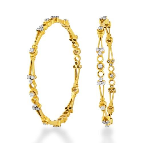 Diamond Wedding bangles 3.18ct. in 18kt. gold-J2655