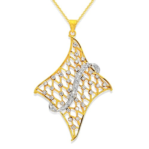 Diamond fancy pendant 08ct in 18kt gold j3159 08ct diamond pendant set with diamond in fancy pendant mozeypictures Image collections