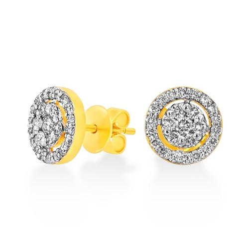 0.76ct. diamond earrings set with diamond in cluster earrings