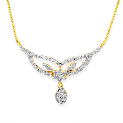 0.28ct. diamond mangalsutra set with diamond in casual mangalsutra