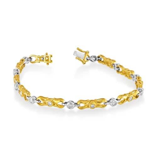 0.63ct. diamond bracelet set with diamond in tennis bracelet