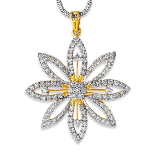 2.28ct. diamond pendant set with diamond in cluster pendant