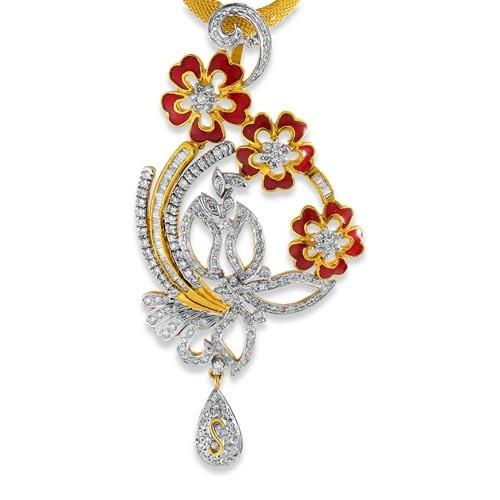 3ca47924f 2.08ct. diamond pendant set with diamond in designer pendant