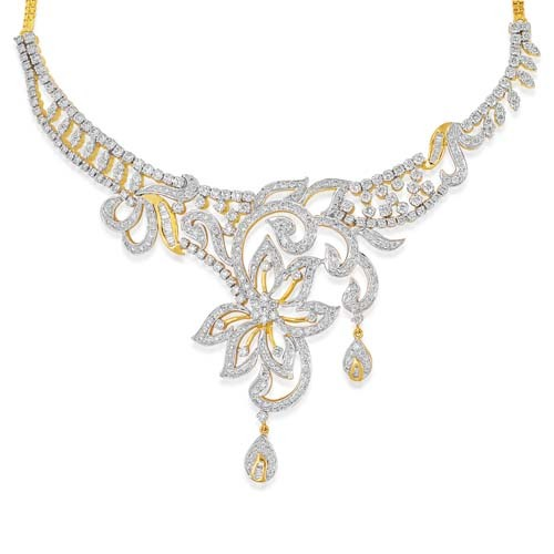 Diamond Designer Necklace 8 37ct In 18kt Gold M5082