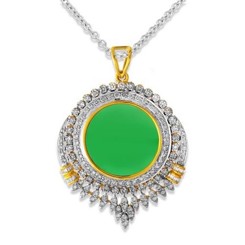 2.45ct. diamond pendant set with diamond in designer pendant