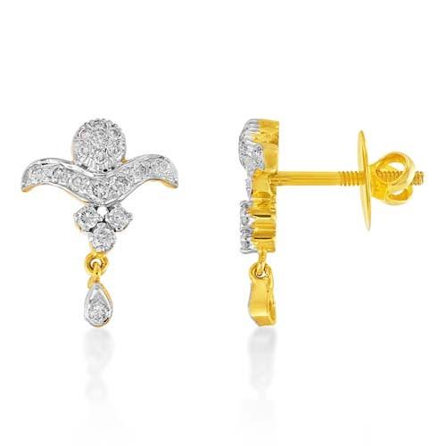 0.51ct. diamond earrings set with diamond in drop earrings