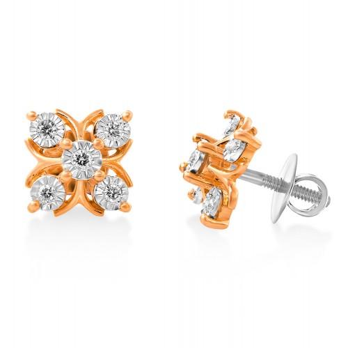 14Kt. Gold Diamond Earrings