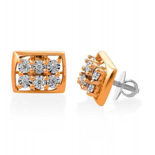 14Kt. Gold Diamond Earrings