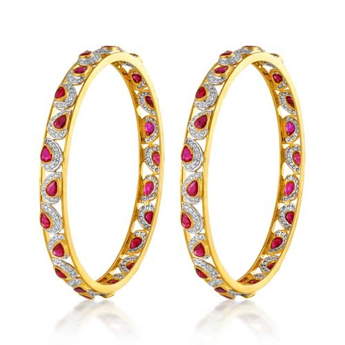 Ruby bangles 12.65ct. in 18kt. gold-O3263