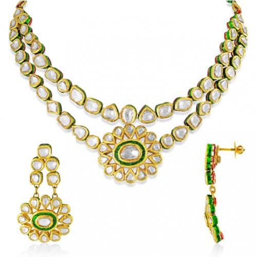 13.6ct. diamond necklace set with diamond in jadau necklace