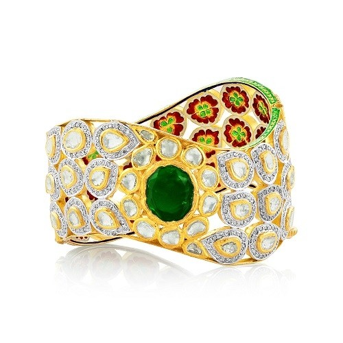 Jadau Bracelet set with 9.5cts. Diamonds and Synthetic Stones