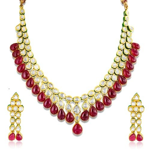 Jadau Necklace Made In 22kt Gold Rb4084