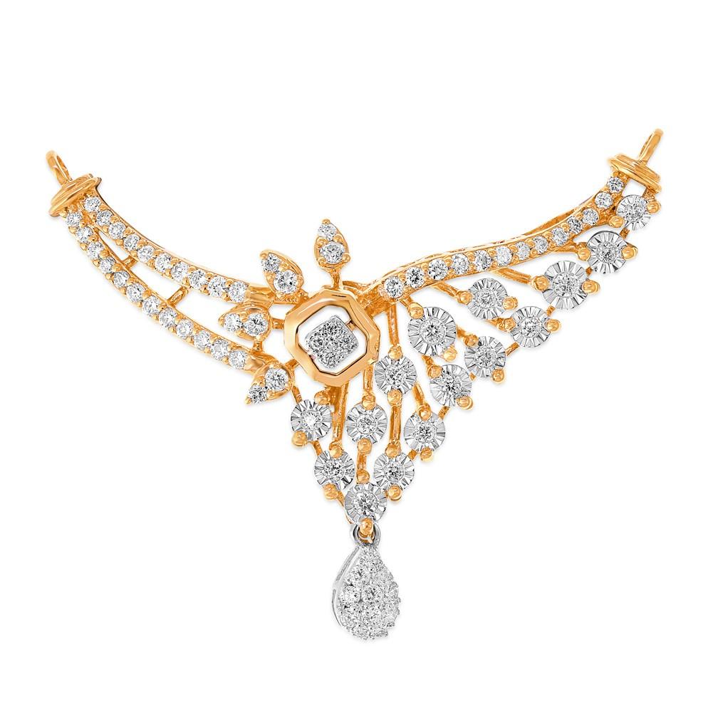 14Kt. Gold Diamond Mangalsutra