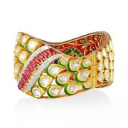 Jadau Bracelet set with 8.6cts. Diamonds and Ruby