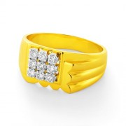 0.58ct. diamond ring set with diamond in mens ring