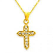 0.27ct. diamond pendant set with diamond in religious pendant