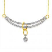 0.65ct. diamond pendant set with diamond in casual pendant