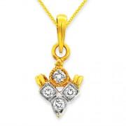 0.14ct. diamond pendant set with diamond in casual pendant
