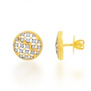 0.34ct. diamond earrings set with diamond in designer earrings