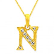 0.17ct. diamond pendant set with diamond in alphabate pendant