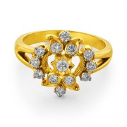 0.48ct. diamond ring set with diamond in flower ring