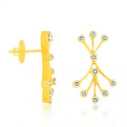 0.55ct. diamond earrings set with diamond in designer earrings