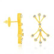 0.55ct. diamond earrings set with diamond in designer earrings