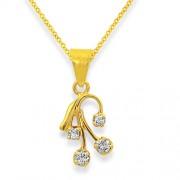 0.13ct. diamond pendant set with diamond in casual pendant