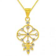 0.04ct. diamond pendant set with diamond in casual pendant