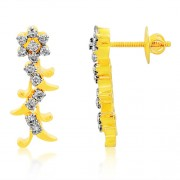 0.63ct. diamond earrings set with diamond in cluster earrings
