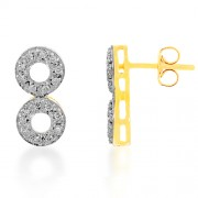36ct. multi stone earrings set with diamond in fancy earrings