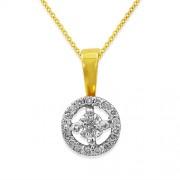 0.21ct. diamond pendant set with diamond in solitaire pendant