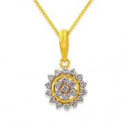 0.42ct. diamond pendant set with diamond in cluster pendant
