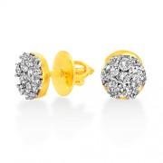 0.91ct. diamond earrings set with diamond in cluster earrings