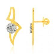 0.87ct. diamond earrings set with diamond in cluster earrings