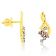 0.43ct. diamond earrings set with diamond in designer earrings