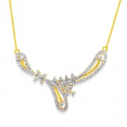 0.66ct. diamond mangalsutra set with diamond in casual mangalsutra