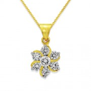 0.87ct. diamond pendant set with diamond in cluster pendant