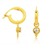 0.1ct. diamond earrings set with diamond in bali earrings
