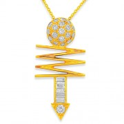 0.66ct. diamond pendant set with diamond in nakshatra pendant