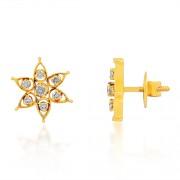 0.57ct. diamond earrings set with diamond in cluster earrings