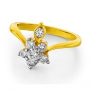 0.47ct. diamond ring set with diamond in flower ring