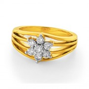 0.46ct. diamond ring set with diamond in flower ring